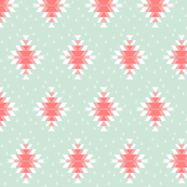 Tribal Diamond Pink Mint