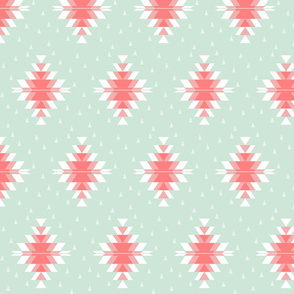 Tribal Diamond Pink Mint