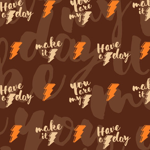 Lightning bolt quotes - dark brown