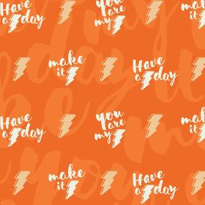 Lightning bolt quotes - orange