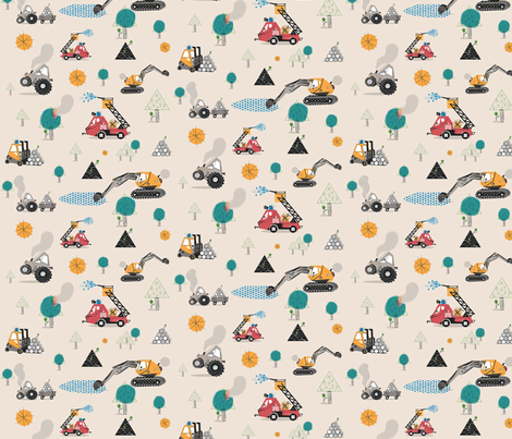 BRM-BRM*  vehiclesmix / nude - S fabric by boomexd on Spoonflower - custom fabric