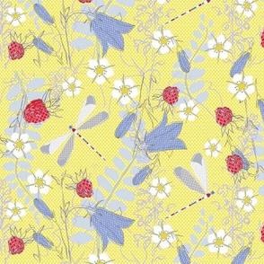Summer Garden - Sommergarten - gelb