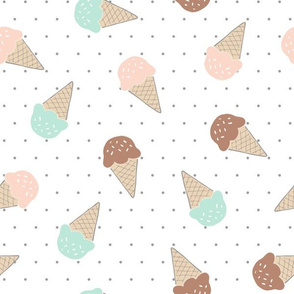 ice cream cones & polkadots
