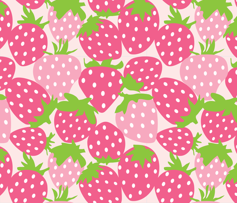 strawberries fabric by lilcubby on Spoonflower - custom fabric