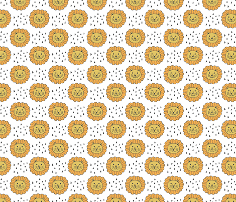 lions & triangles fabric by rarebirddesignco on Spoonflower - custom fabric