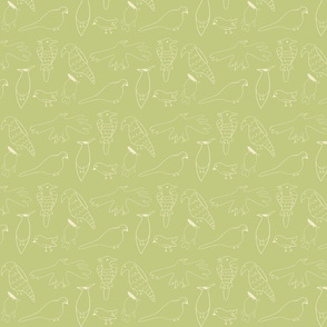 Friendly Flock (Lime)