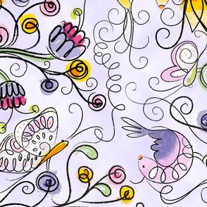 Secret Garden in Lavender XL - © Lucinda Wei