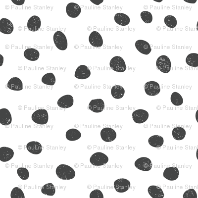 medium pebble dots - black