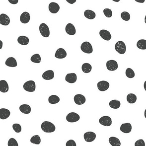 medium pebble dots - black