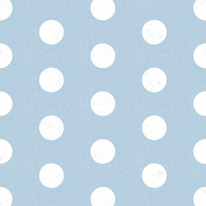 medium polka dots - chambray blue