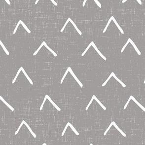 tiny v peaks - dark gray