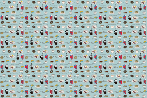 Mmm...Breakfast! fabric by carambola_pattern_design on Spoonflower - custom fabric