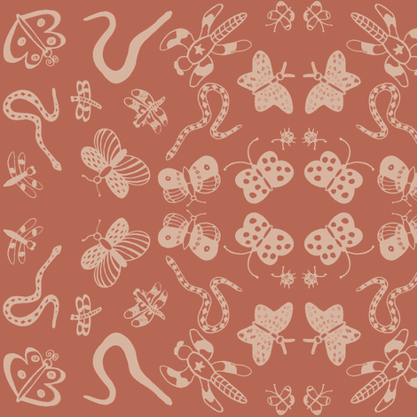 My Favorite Things (Sienna) fabric by forestprojectkids on Spoonflower - custom fabric