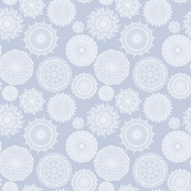 Lacy Mandalas on Periwinkle