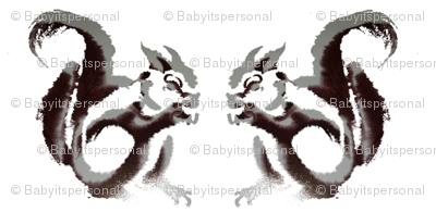 Squirrels in white