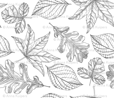 Pen and Ink Leaves (small)