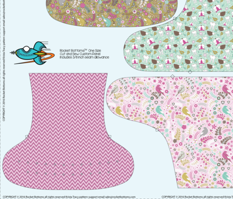 OS Fitted Enchanted Cloth Diaper - 56 inch fabric by ktracyunlimited on Spoonflower - custom fabric