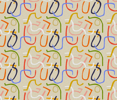 scrappy fabric by kimmurton on Spoonflower - custom fabric
