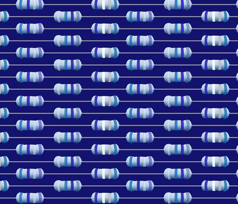 Resistors in Blue fabric by lowa84 on Spoonflower - custom fabric