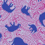 Paisley-Power-navy-raspberry-elephant-print-fabric-design