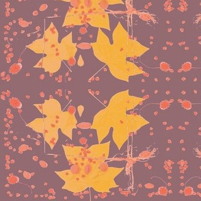 Tuliptree Leaves & Sycamore Seeds (Brown)