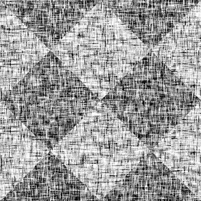 Black + White, mid-contrast tweedy diamond tiles by Su_G