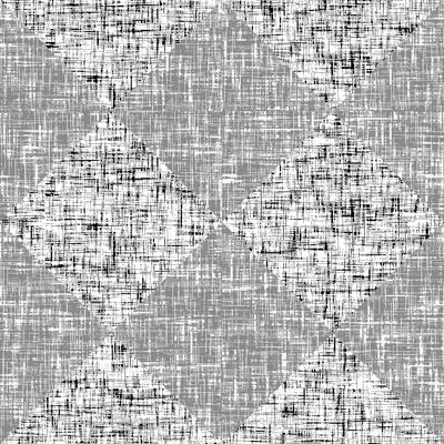 Black + Gray + White, low-contrast tweedy diamond tiles by Su_G