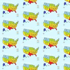 MAP USA - MEDIUM  Summer