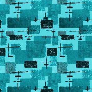 Mid Century - Abstarct Blue