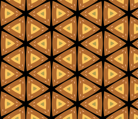 African Inspired Geometric Pattern fabric by mariafaithgarcia on Spoonflower - custom fabric