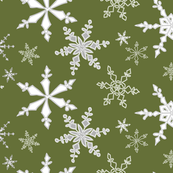 Snowflakes Ivy Green