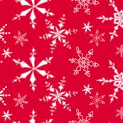 Snowflakes - Red White