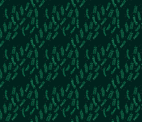 Christmas leaves fabric by denysemitterhofer on Spoonflower - custom fabric