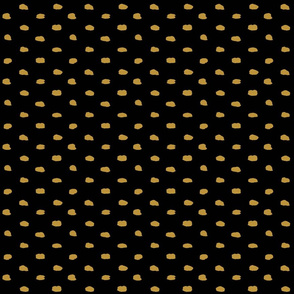 Black Mustard Painty Polka Dot