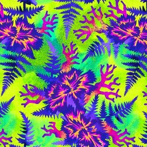 Coral Carnation - Purple/Lime Green
