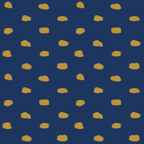Navy and Mustard Painty Polka Dot fabric by katrina_ward on Spoonflower - custom fabric