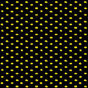 Black and Yellow Painty Polka Dot