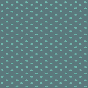 Grey-teal painty polka dot
