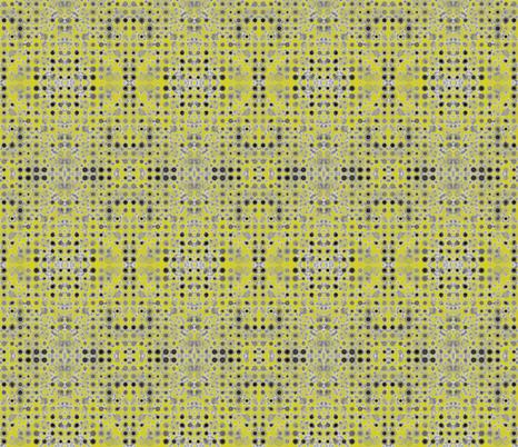 Dancing Dots and Spots on Bush Lemon fabric by rhondadesigns on Spoonflower - custom fabric