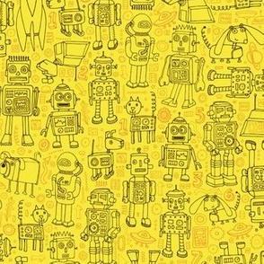 Robot pattern - Yellow