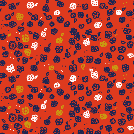 FlorecitasColorRed fabric by denysemitterhofer on Spoonflower - custom fabric