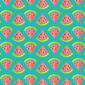 Watermelon Splash - On Teal
