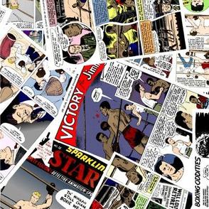 vintage comic book boxing - LARGE PRINT