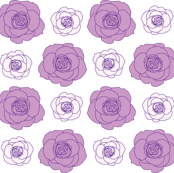 rose pattern in lavender and powder pink