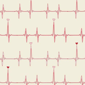 heartbeat (red and natural)