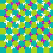 Butterfly garden illusion