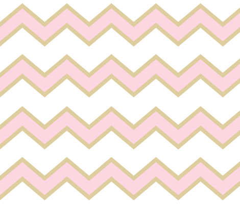 Pink Gold Chevron Large  fabric by decamp_studios on Spoonflower - custom fabric