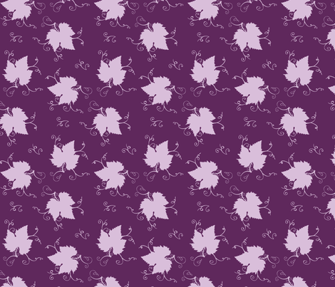Grape Leaves - Grapes fabric by ninmah on Spoonflower - custom fabric