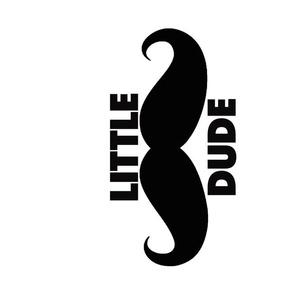 Little Dude White Moustache