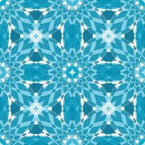 Geometric Crystal Flower Fabric